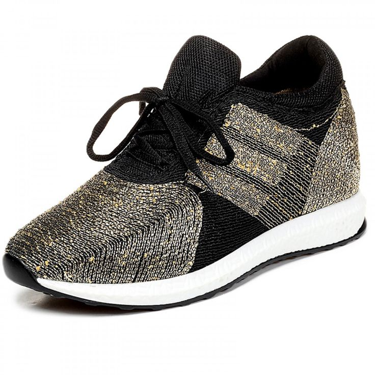 Extra Height Flyknit Racer Shoes Elevator Sneakers 10cm