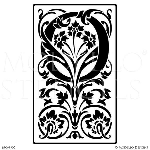 Letter O Alphabet Lettering Stencils for Decorative Painting Projects - Modello Custom Stencils