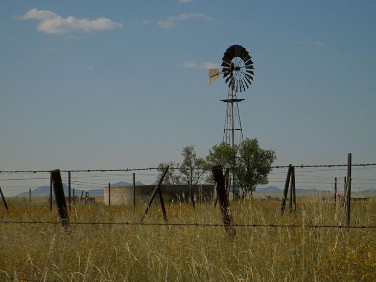 "Windmill on the plains of Sonoita, AZ.  This is where the outdoor scenes from the movie, ""Oklahoma"" were filmed."