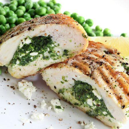 Kuřecí prsa plněná špenátem a Ricottou máte na stole za 15 - 20 minut.