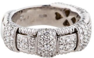 Roberto Coin 18K Basket Weave Diamond Ring