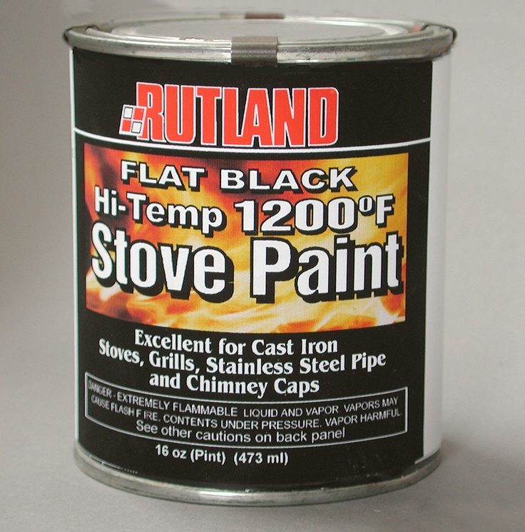 Rutland 1,200 Degree Black Stove Paint - 1 Pint  $19.99 and 19.39 delivery charge to Canada