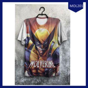 Fashion Baju Pria Superhero Wolverine New Terlaris
