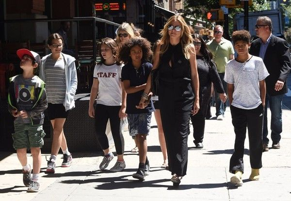 Heidi Klum Photos - Heidi Klum was spotted stepping out and about with her kids and friends in New York City, New York on June 14, 2016. They were seen laughing and having a good time. - Heidi Klum Steps Out In NYC With Children And Friends