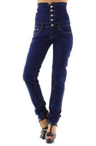 jeggins 6 button waist corset skin Tight  jeans Brazil  Bum Lift  trouser  6 -12