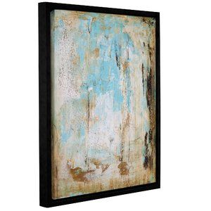 'Water Stone' Framed Watercolor Painting Print on Canvas