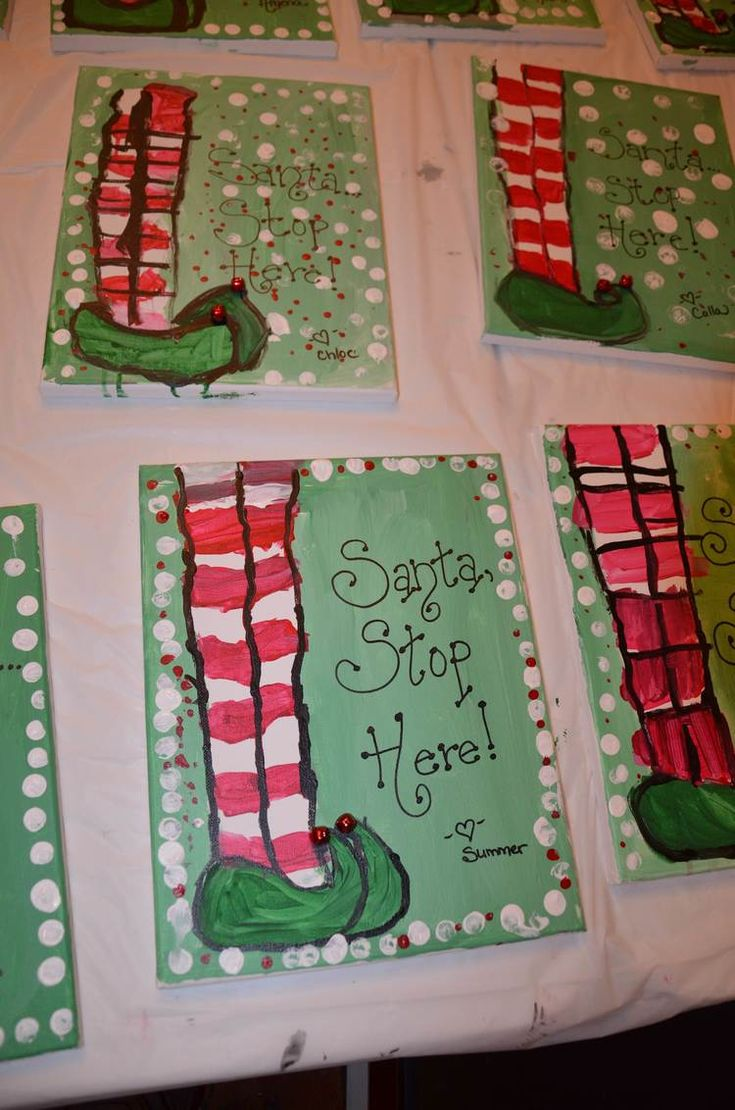 25 best ideas about christmas canvas paintings on for Christmas canvas painting ideas