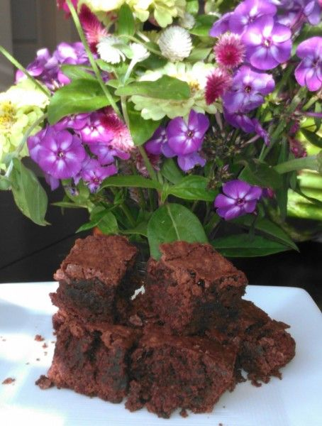 Delicious Peppermint Brownies made with doTERRA Peppermint Essential Oil.