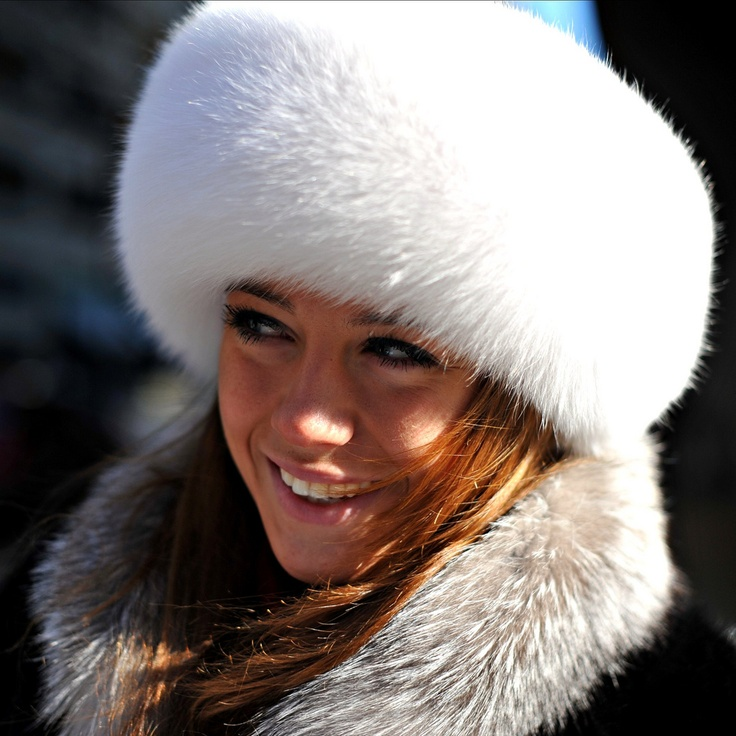 White fur hat will make the perfect accessory for a snow bunny costume