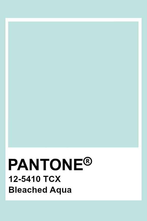 Pantone Bleached Aqua Fabulous Pantone In 2019 Aqua