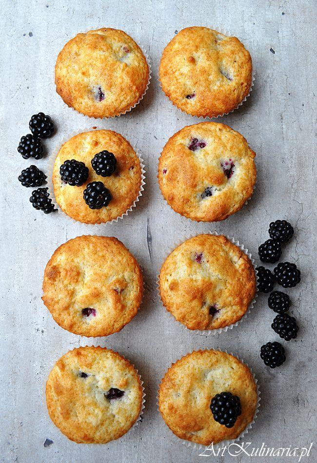 Muffiny z jeżynami (Blackberries Muffin)   ArtKulinaria