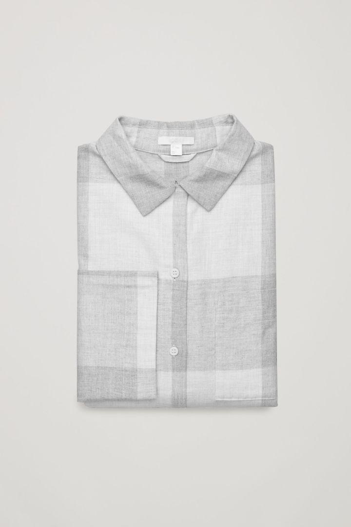 COS | Check flannel pyjama shirt