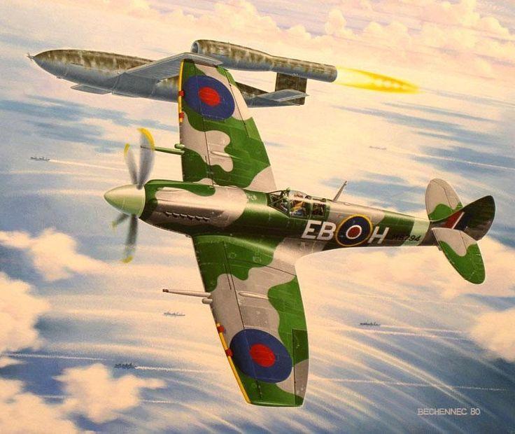 Spitfire Mk.XII versus V.1 'Doodlebug', by Daniel ...