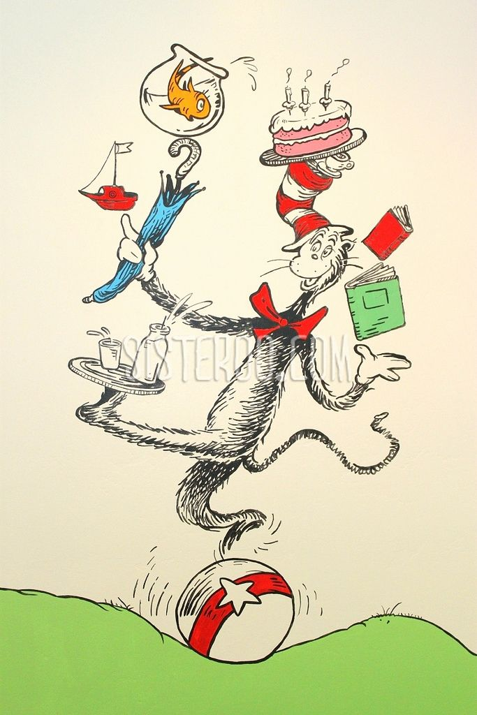 Dr. Seuss playroom, Cat in the Hat balancing act.