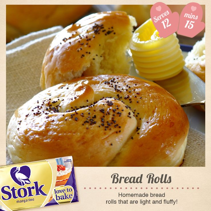 Have you ever made your own bread rolls before? Bake these delightful Bread Rolls until golden brown with our recipe -> http://www.stork.co.za/recipes/bread-rolls/