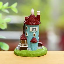 Moomin Beacon House Castle Miniature Fairy Garden Home Houses Decoration Mini Craft Micro Landscaping Decor DIY Accessories(China (Mainland))