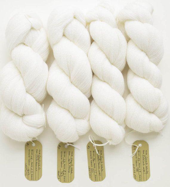 Lamb White Lace Weight Recycled Merino Yarn by PenelopesFineYarns
