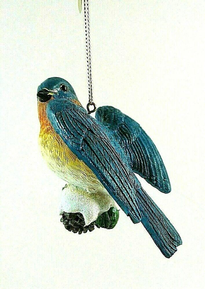 Danbury Mint Bluebird Songbird Christmas Tree Ornament Bird