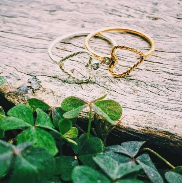 """Nina des Criquets  Ring  """"Maria Jérusalem""""cross with zirconium setting, gold plated or silver plated. Exist in 52-54-56. Handmade and cute heart shaped ring. #ring #heart #cute #ninadescriquets"""