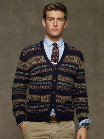 Fair Isle V-Neck Cardigan - Polo Ralph Lauren Cardigan & Full-Zip - RalphLauren.com