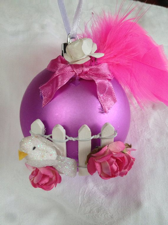 Bird on a fence Christmas bauble. on Etsy, $14.95 AUD. Please do not copy as this is an original design.