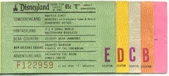 Oh yes, remember the famous E Tickets?