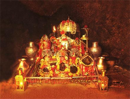 Vaishno Devi Temple...Vaishno Devi Mandir (Hindi: वैष्णोदेवी मन्दिर) is one of the holy Hindu temples dedicated to Shakti, located in the hills of Vaishno Devi, Jammu and Kashmir, India. In Hinduism, Vaishno Devi, also known as Mata Rani and Vaishnavi, is a manifestation of the Mother Goddess.