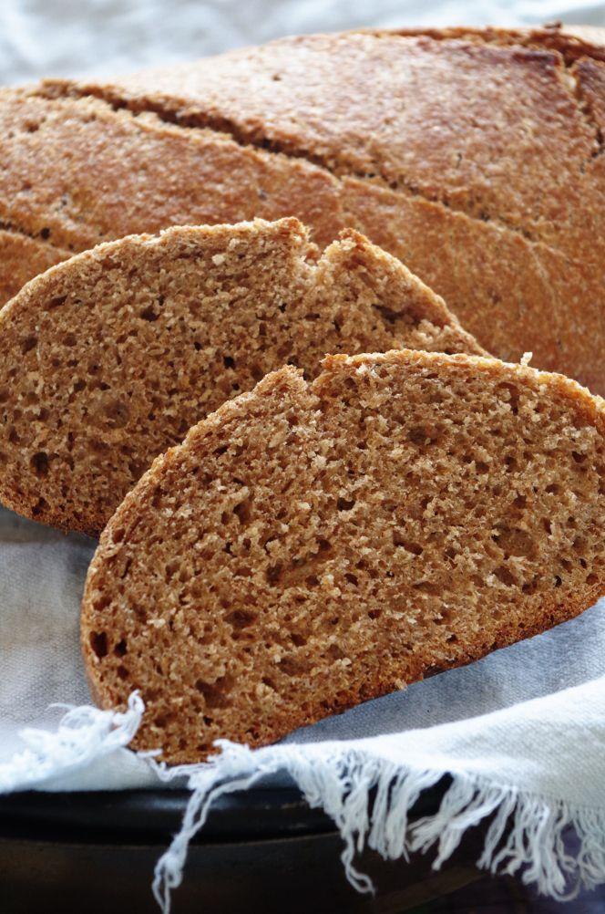 Цельнозерновой хлеб без замеса на закваске