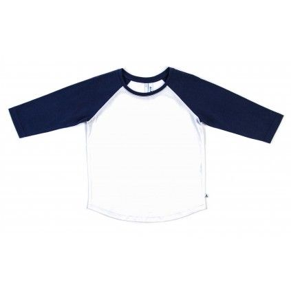 Basic Raglan - Navy/White
