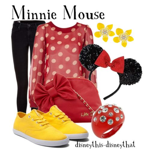 Minnie Mouse Inspired Clothing, minus the headband. Just a plain bow.