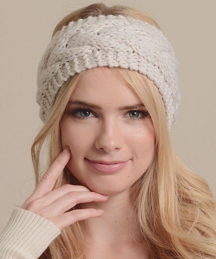 вязаный платок спицами на голову