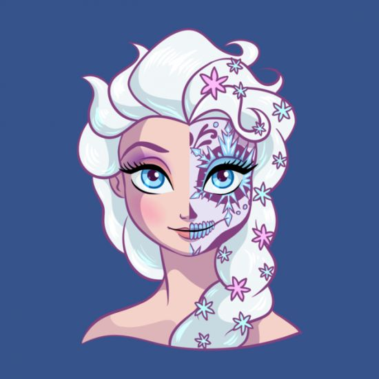 "Disney Princess ""Sugar Skull"" t-shirts from TeePublic 