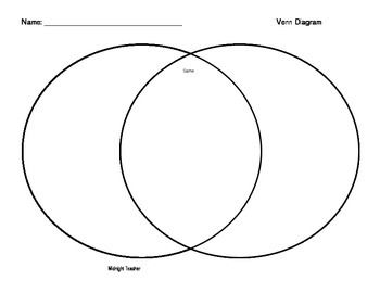 Students can use this large Venn Diagram to compare and