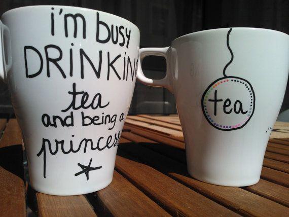 Tasse Princess Tea par GodSavetheTeatime sur Etsy, €15.00