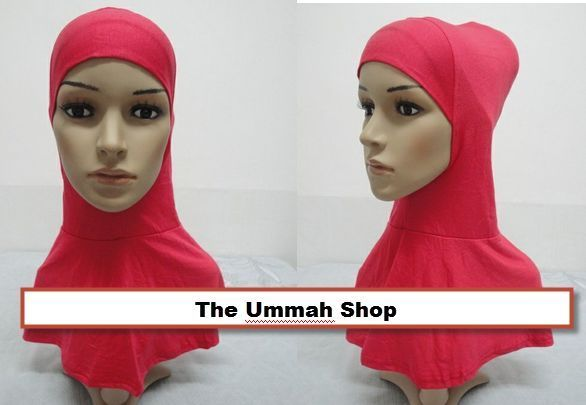 LONG Ninja XL hijab big Underscarf cotton neck cover 1 piece muslim bonnet cap #Hijablongninjaunderscarf