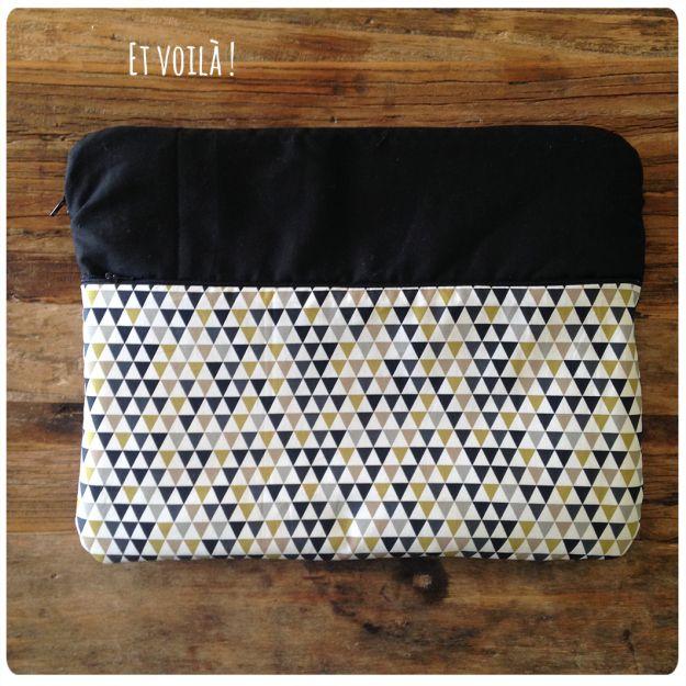 tutoriel pochette ordinateur portable tricot crochet couture pinterest. Black Bedroom Furniture Sets. Home Design Ideas