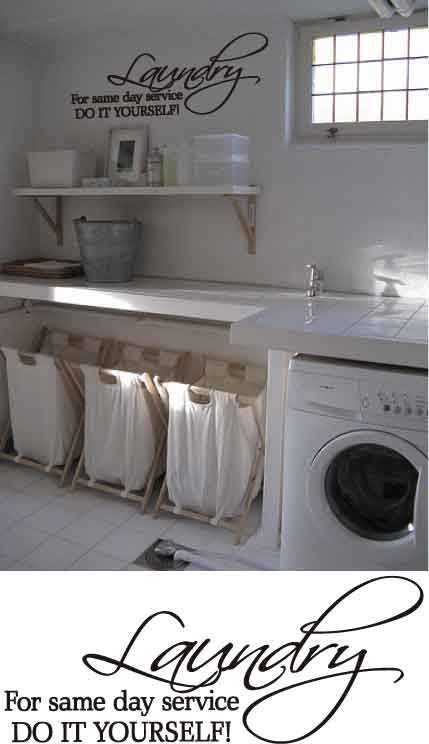 Cute Laundry Room Service and love the laundry room