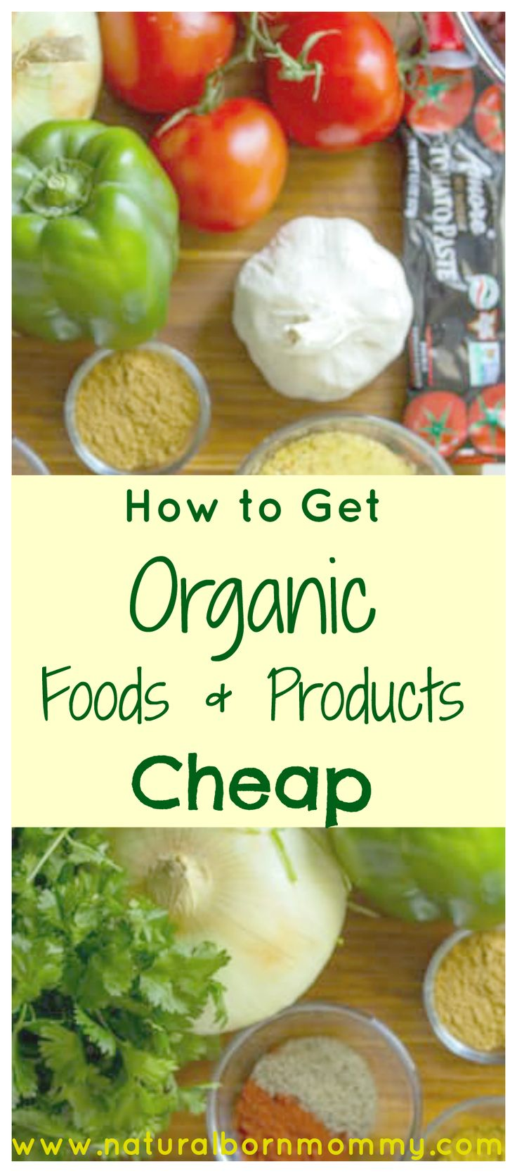 Do you want to eat wholesome, unprocessed, non-GMO, organic food or provide your family with natural, chemical-free products but can't afford to? It can be hard getting these items at an inexpensive cost, and coupons for organic products can be difficult to find. Here are 6 tips to getting organic foods and products cheap...