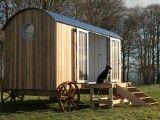 Shepherd's hut with wet room or compost toilet.