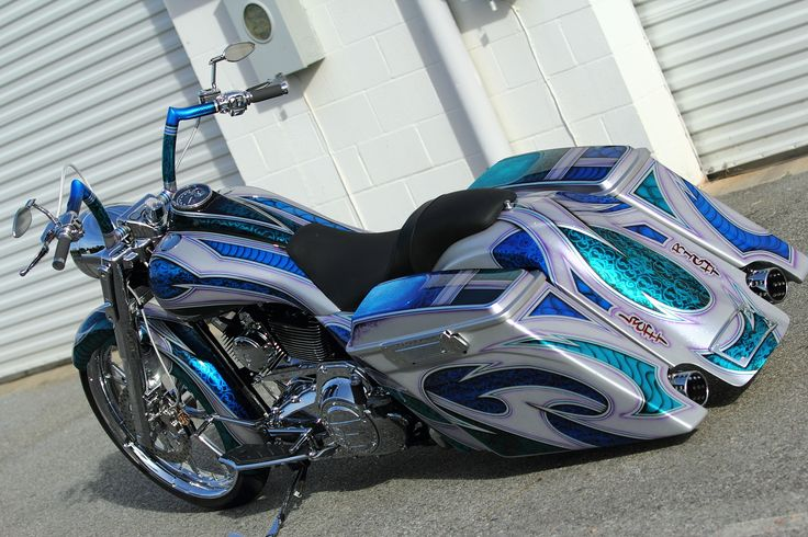 harley bagger green | 2011 harley davidson road king custom bagger painted by bkp art