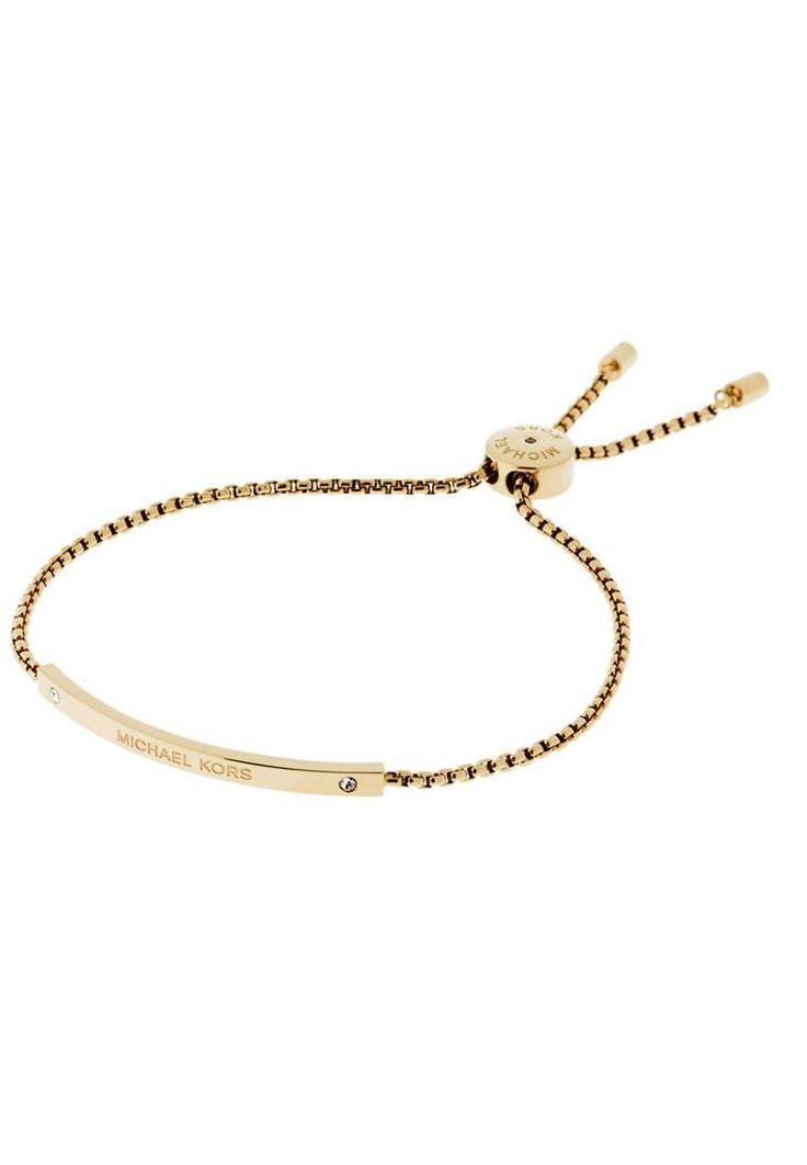 Michael Kors. Armband - gold-coloured. Material:Glas,vergoldeter Edelstahl. Armbandbreite:0.3 cm bei Größe One Size. Länge:19 cm bei Größe One Size