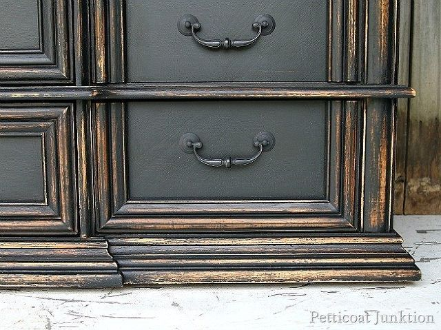11 designer decor looks you can make on the cheap distressing painted furniture black - Modern furniture knock offs ...