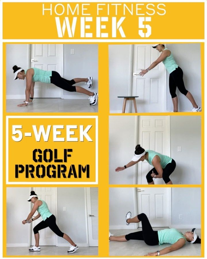An Equipment Free Golf Workout Routine You Can Do At Home Free Golf Training Program Workout Routines Golf Training