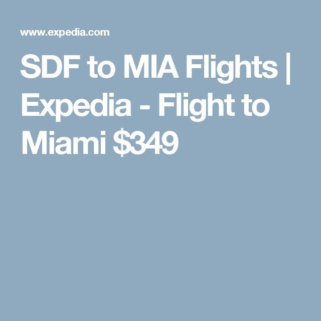 SDF to MIA Flights | Expedia - Flight to Miami $349
