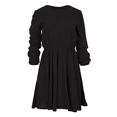 Achilleas Accessories - Προϊόντα : Collection   FW 2016-17 / Ρούχα / Φορέματα / Φόρεμα skater μονόχρωμο με μακριά μανίκια και μικρό άνοιγμα στην πλάτη <!-- paris_style --> <!-- holiday_shops --><!-- basics -->