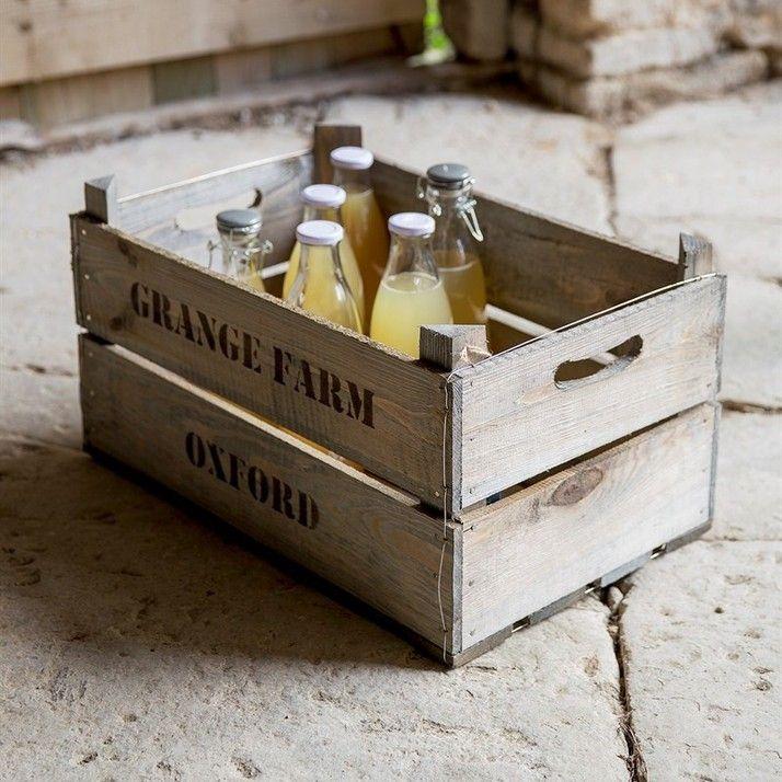Wooden Fruit Box | Hjem og hage | Grace & Glory Home