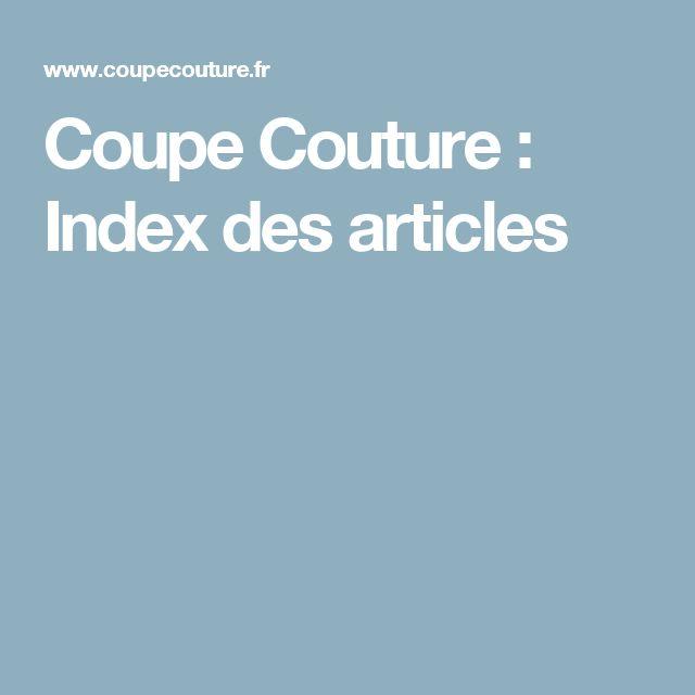 Coupe Couture : Index des articles