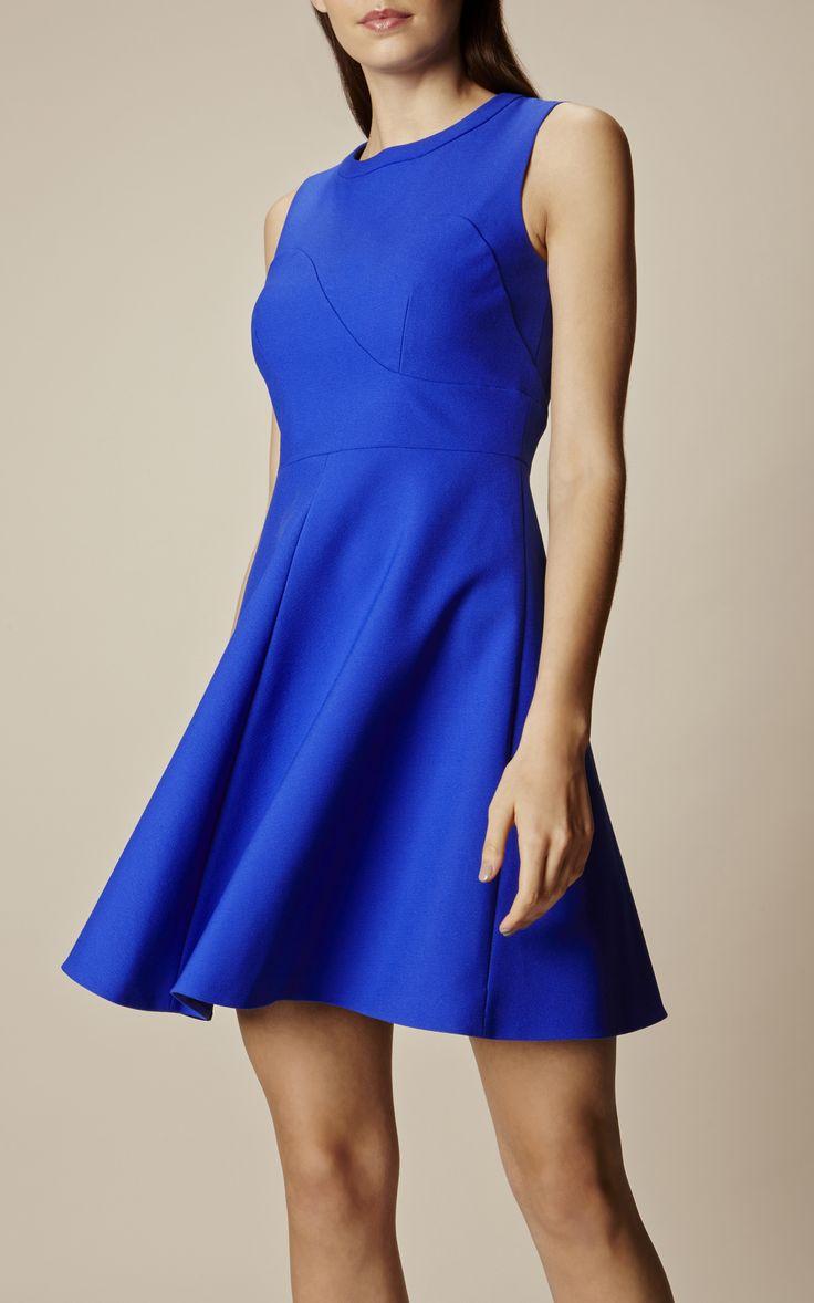 Karen Millen, SKATER DRESS Blue