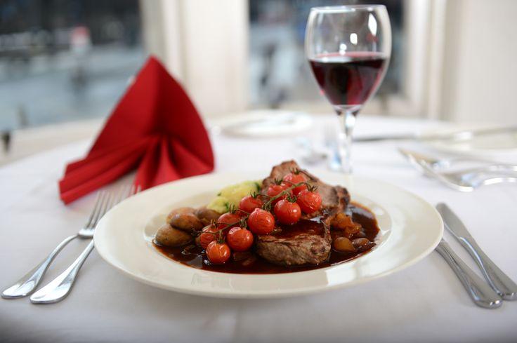 #Scottish #steak in Cranston's #restaurant in The Old Waverley #hotel #Edinburgh.