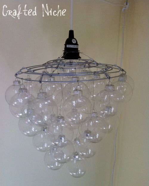 """I love chandeliers, and therefore I'm in love with all these DIY chandelier ideas. I can't wait to try some of them out! Click on the """"Source"""" icon for the full tutorials. 1. Christmas Ornaments Ch..."""